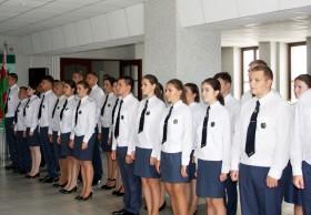 Церемония вручения погон должностным лицам таможни