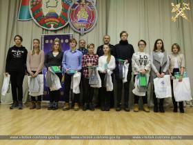 Начальник таможни Павел Лобачев принял участие в церемонии посвящения в Юные динамовцы