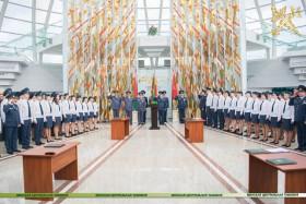Торжественная церемония принесения Присяги должностными лицами таможен Минского региона, впервые принятыми на службу
