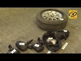 Более 1,5 кг марихуаны в запасном колесе пытался ввезти в Беларусь гражданин Украины