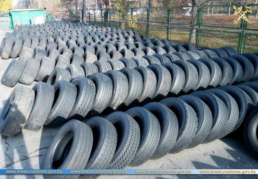 Раскрыта незаконная схема ввоза на территорию ЕАЭС бывших в употреблении шин