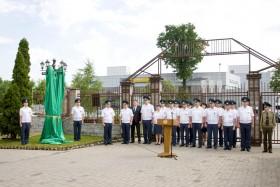 В день ветеранов таможенной службы в ГТК торжественно открыт арт-объект и погашен почтовый конверт
